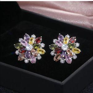 Women's colored fashion earrings